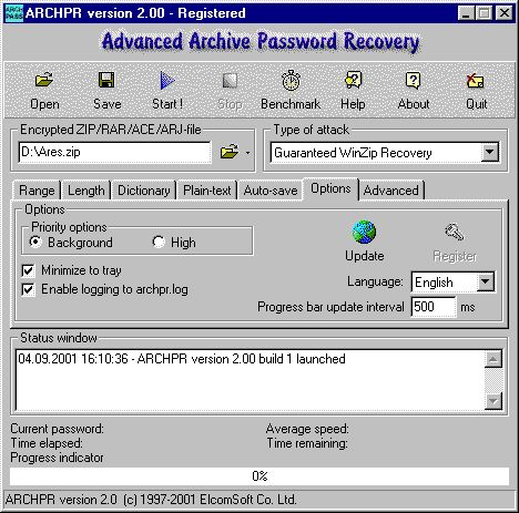 Скачать Advanced Archive Password Recovery v.4.53